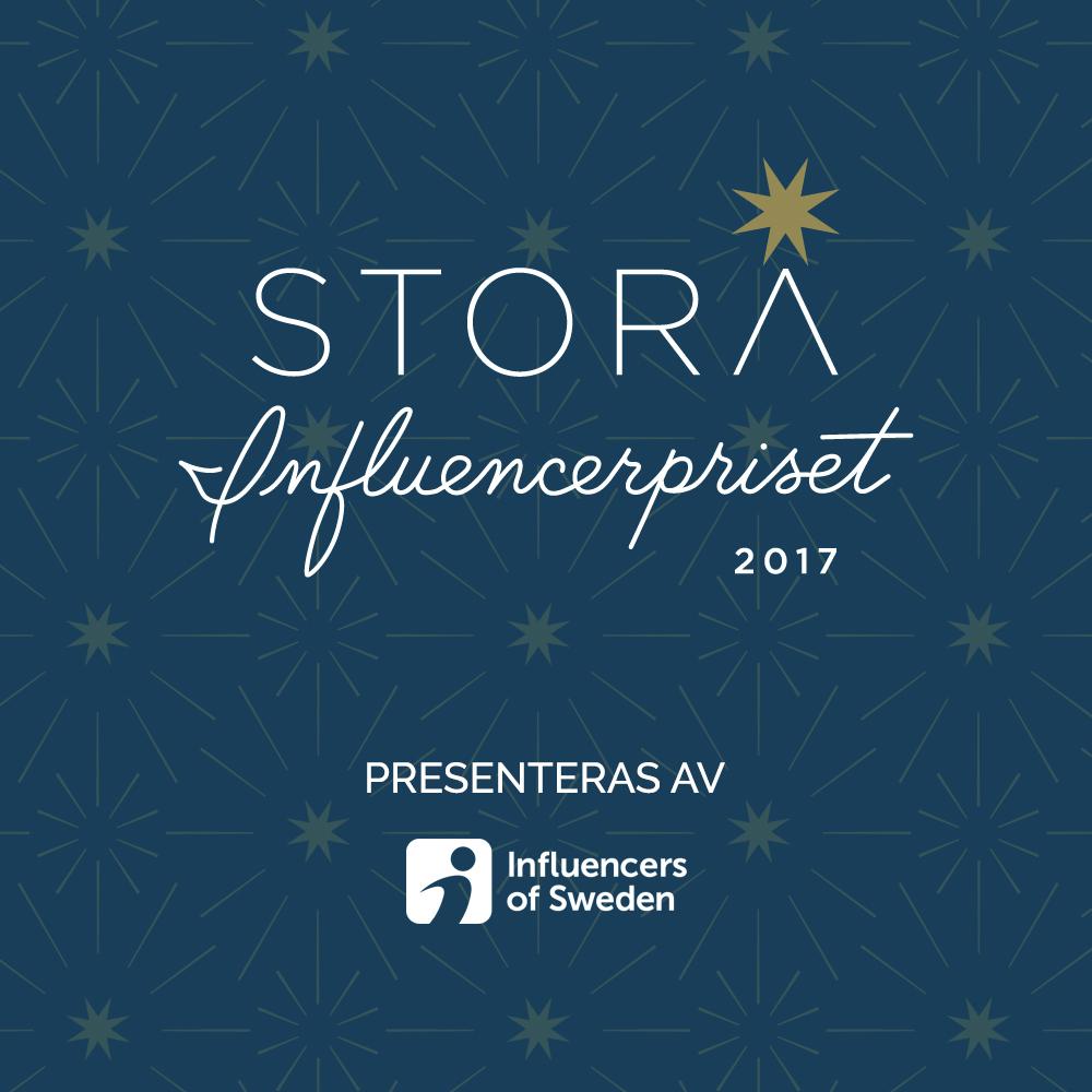 stora influencerpriset 2017 nominerade